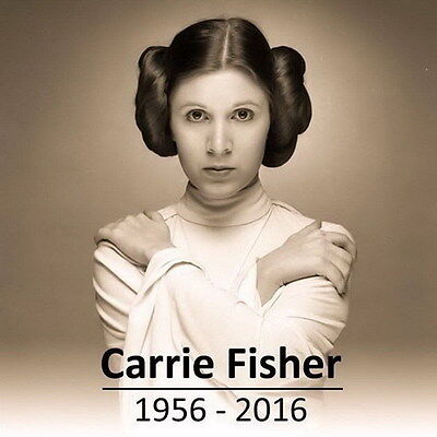 "MX18003 Carrie Fisher - American Actress Princess Leia Star 14""x14"" Poster_18003"