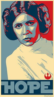 """MX18082 Carrie Fisher - American Actress Princess Leia Star 14""""x25"""" Poster_18082"""