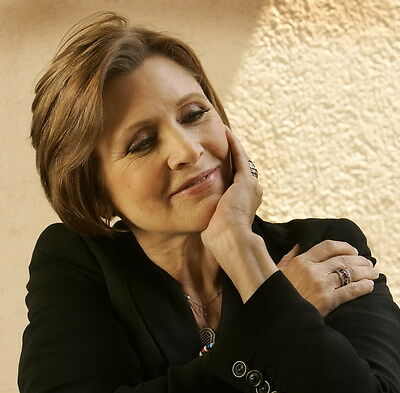 """MX17989 Carrie Fisher - American Actress Princess Leia Star 14""""x14"""" Poster_17989"""