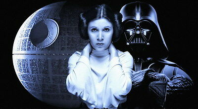 """MX18074 Carrie Fisher - American Actress Princess Leia Star 25""""x14"""" Poster_18074"""