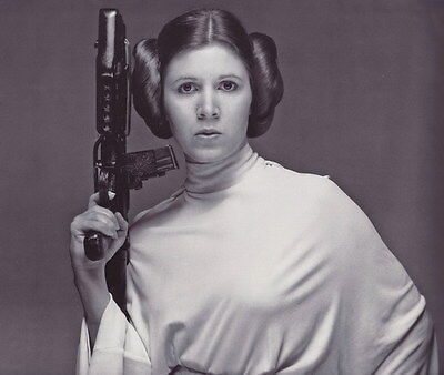 """MX17979 Carrie Fisher - American Actress Princess Leia Star 16""""x14"""" Poster_17979"""