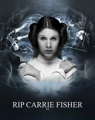 "MX18153 Carrie Fisher - American Actress Princess Leia Star 14""x17"" Poster_18153"