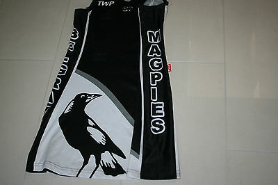 Afl Vfl Magpies Collingwood Colors Netball Dress Belgrave Small Ladies Velcro