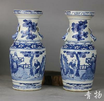 Hand by hand in the qing dynasty blue and white lotus flower candle holders