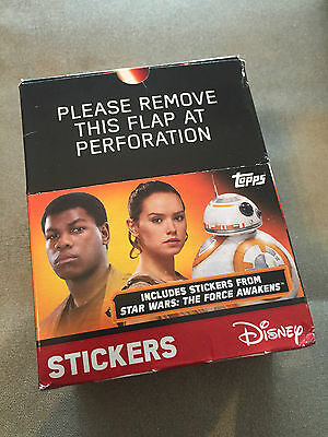 opps Star Wars Force Awakens 47 Pack Factory Sealed Sticker Box-235 Stickers!