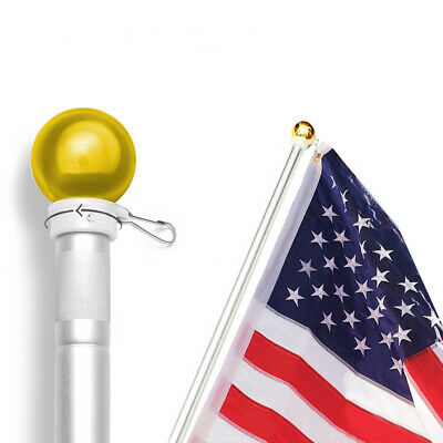 5 Feet Wall Mount Flagpole,ANLEY Aluminum Flag Pole with Rotating Ring Ball Top