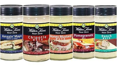 WALDEN FARMS NEAR ZERO CALORIE MAYO 340g - CARB FREE - FAT FREE - ALL FLAVOURS
