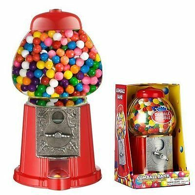 Classic Coin Plastic GumBall Globe Machine Bank 80g Chew Gums Ball Sturdy Red UK