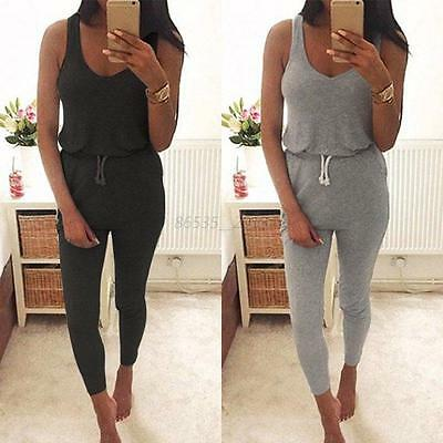 Women Ladies Sleeveless Bodycon Playsuit Party Clubwear Jumpsuit&Romper Trousers