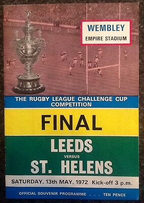 The Rl Challenge Cup 1972 Final Rugby League Programme / Memorabilia