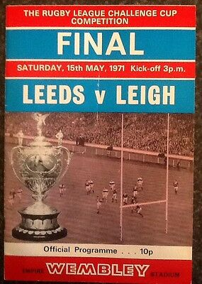 The Rl Challenge Cup 1971 Final Rugby League Programme / Memorabilia