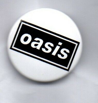 Oasis Button Badge - English Indie Rock Band -Noel & Liam Gallagher - Wonderwall