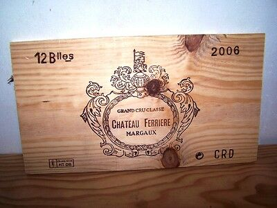 estampe chateau ferriere 2006 margaux wine crate front panel ohk owc cbo