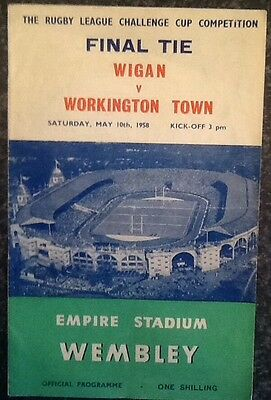 The Rl Challenge Cup Final Tie 1958 Rugby League Programme / Memorabilia