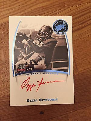 2007 Press Pass Legends Ozzie Newsome RED INK Autograph Browns Alabama Tide