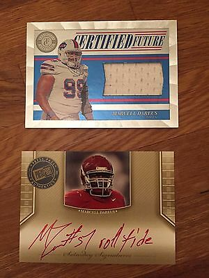 2011 Press Pass Legends Marcell Dareus Red Ink INSCRIPTION Autograph Alabama