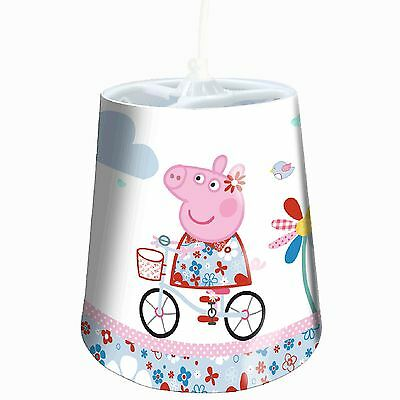 Peppa Pig Tapered Lamp Shade Ceiling Light White Bedroom Lighting New Bicycle