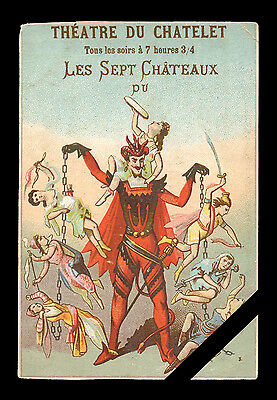 French Trade Card: Original Early 1900's Theatre Du Chatelet - Diable