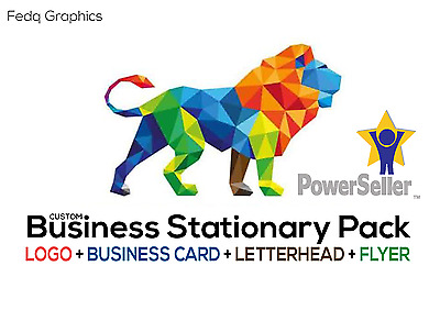 PROFESSIONAL CUSTOM Logo +Business card +Letterhead+Flyer | BUSINESS PACK