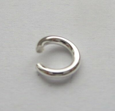 5 mm 18 Gauge Solid Sterling Silver 925 Round Open Jump Ring 5 - 100 pc