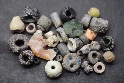 Interesting Mixed Lot Of Ancient Glass And Stone Beads