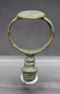 17Th Century Bronze Ring + Pipe Tamper, British Found