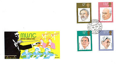 10 September 1980 Famous Conductors Philart First Day Cover House Of Commons Cds