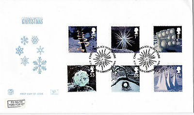 4 November 2003 Christmas Stuart First Day Cover Ice Sculpture Ware Shs