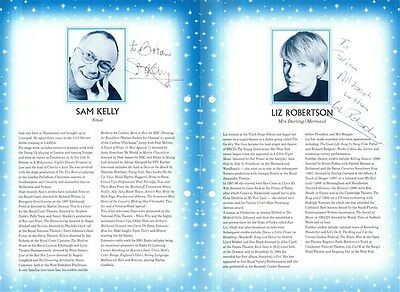 LIZ ROBERTSON & SAM KELLY HANDSIGNED 10 x 7 BIO PAGE FROM THEATRE PROGRAMME