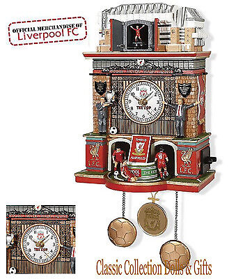 Bradford Exchange-Officially Licensed Ltd Ed-Liverpool Fc Stadium Clock-New !