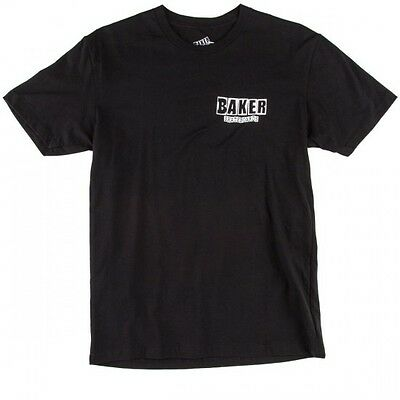 Baker Skateboards - Uno Tee T Shirt Black White - Small Large - New Classic
