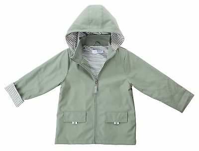 New Benji  Kids 100% Waterproof  Raincoat  Boys/girls  Khaki
