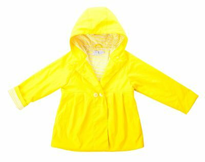 New Kids 100% Waterproof Raincoat Girls Yellow