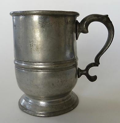 Early 19th Century English Pewter Tavern Mug, 1/2 Pint