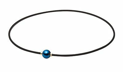 NEW Phiten RAKUWA necklace X100 mirror ball earth color 45cm Unisex Japan