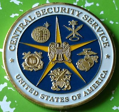Us Central Security Service #1205 Colorized Art Round
