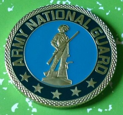 Us Army National Guard #1056 Colorized Art Round