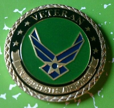 Us Air Force Veteran #1100 Colorized Art Round