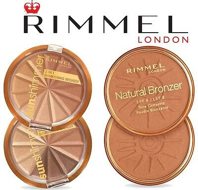 Rimmel Natural Bronzer And Sun Shimmer Bronzer 14G ****choose Colour****