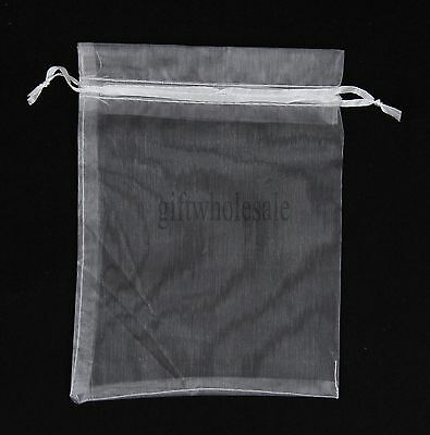 25pcs 7x9cm White Organza Jewelry Pouches Wedding Party Favors Gift Bags