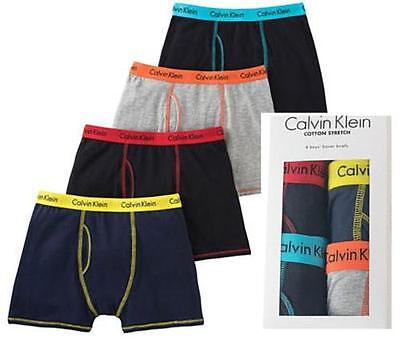 Calvin Klein Boys' Cotton Stretch Boxer Briefs