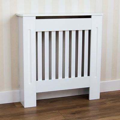 Chelsea Radiator Cover Modern White Cabinet MDF Painted Slats Grill Furniture