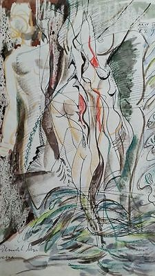Derrick Latimer Sayer (1917-1992), abstract nude life sketch