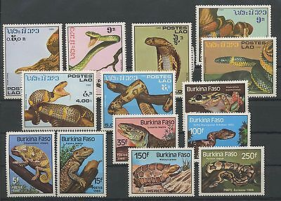 (Tv17033) Reptiles, Small Collection, Um/mnh, See Scan