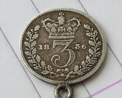 William IV or IIII 1836 silver threepence 3D