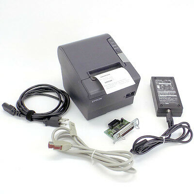 Epson TM-T88V M244A Powered USB Receipt Printer w/ Opt'l Parallel Interface Card