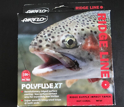 AIRFLO RIDGE LINE FLY LINE - WF9F - Hot Coral New In Box