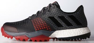 Adidas Adipower S Boost 3 Golf Shoe Mens Q44778 Onix/black/scarlet New 2017