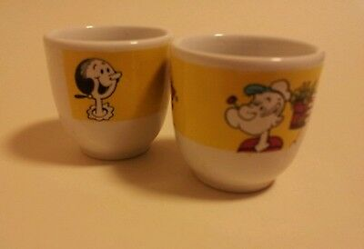 popeye the sailor man egg cups vintage 1989 x2 collectable cartoon king features