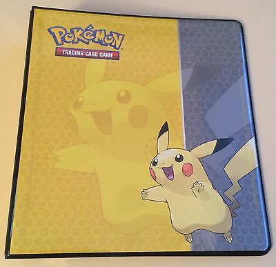 """Ultra Pro Pokemon Pikachu 2"""" Album 3 D Ring Binder - For use with 9 Pocket Pages"""